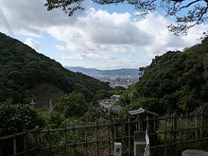 扇状に開けた京都市街
