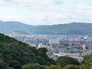 清閑寺から見た東本願寺