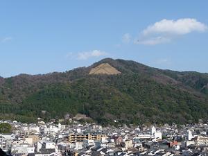 雄大な大文字山