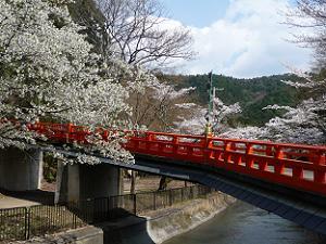 本圀寺へ続く朱色の橋