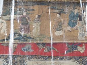 鶏鉾の刺繍