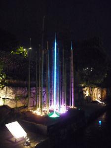 竹と光のアート