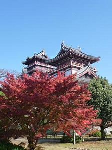 伏見桃山城の紅葉
