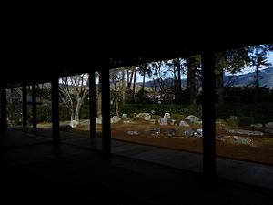 室内から見た庭園