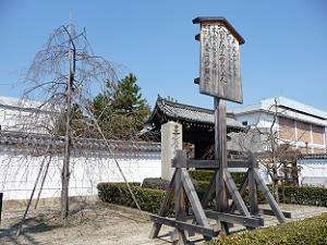 妙顕寺の門前