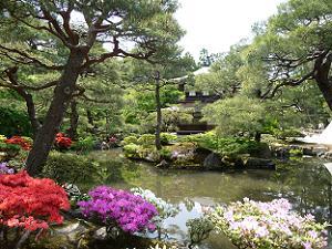 銀閣寺の錦鏡池