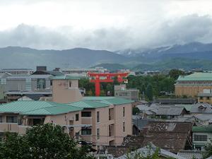 粟田神社の境内からの眺め