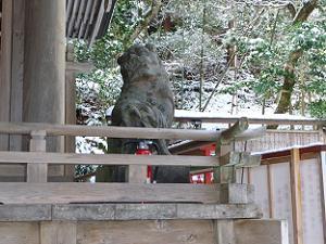 由岐神社の狛犬