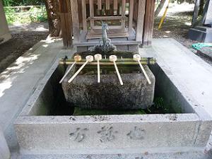 藤森神社の手水鉢