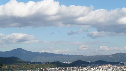 境内の頂上からの眺め