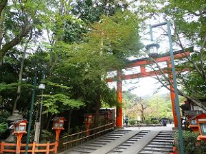 八坂神社の北東の鳥居