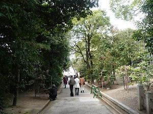 神苑の入口付近