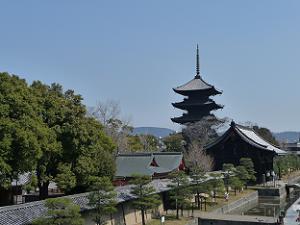 陸橋から見た東寺