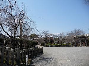 六孫王神社の境内