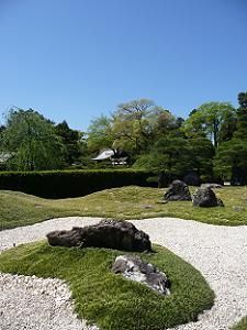 城南離宮の庭
