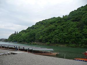 嵐山と大堰川