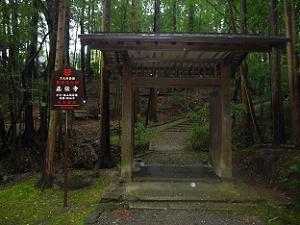 参道の途中に建つ門