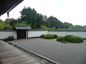庭園の左側