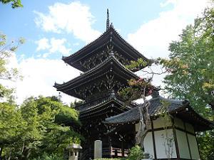 三重塔と地蔵堂