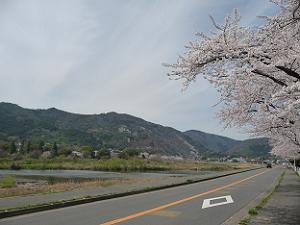 三条通から見た嵐山