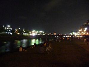 夜の鴨川会場