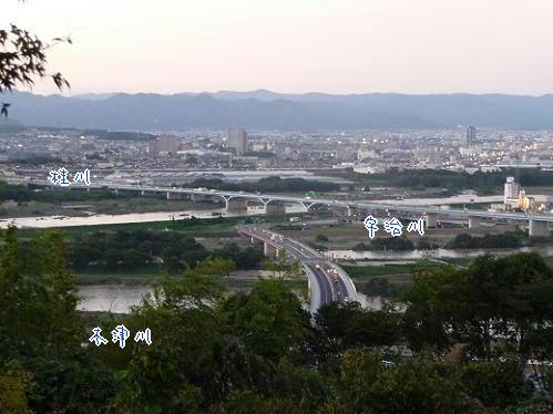 台風が過ぎ去った後の桂川、宇治川、木津川・2013年9月17日の状況