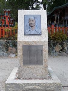 今宮神社の桂昌院の像