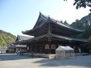 泉涌寺の仏殿と舎利殿