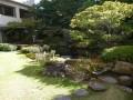 京都平安ホテルの池泉回遊式庭園を鑑賞