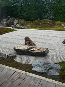 石組と白砂