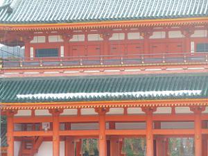 應天門の屋根の雪