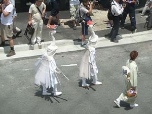 鷺踊りの列