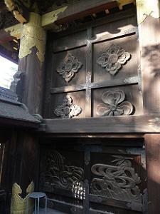 唐門の装飾