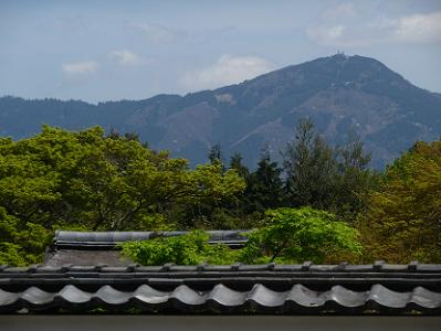 比叡山と新緑