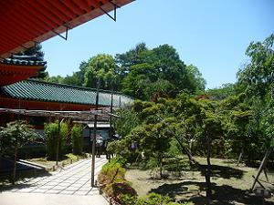 南神苑の入り口