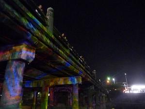 三条大橋のプロジェクションアート