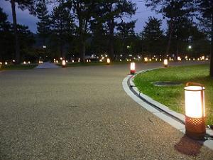 公園に設置された行灯