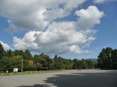 広がる秋空