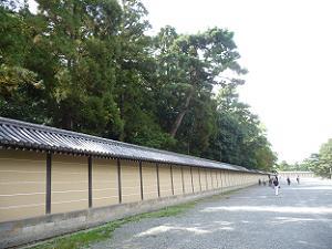 大宮御所の塀