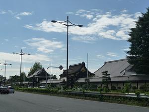 堀川通と西本願寺
