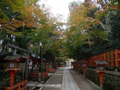 北側の参道の紅葉