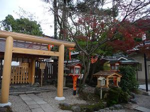 大神宮社と紅葉