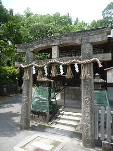 厳島神社の唐破風鳥居