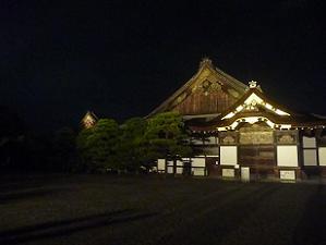 二の丸御殿のライトアップ