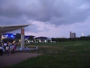 夕暮れ時の梅小路公園