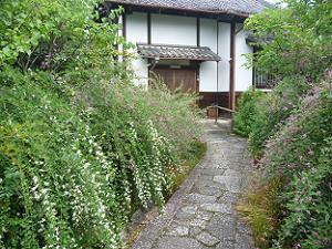 寺務所と萩