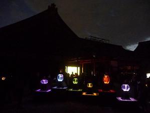 夜の二の丸御殿中庭