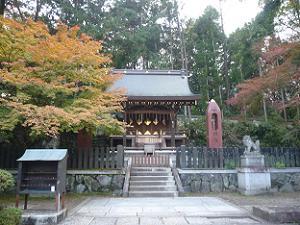 織姫社と紅葉