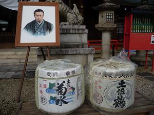 中岡慎太郎と酒樽