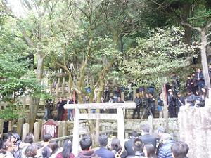 坂本竜馬と中岡慎太郎の墓前